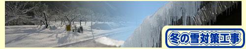 冬の雪対策